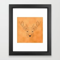 Deer Lines Framed Art Print