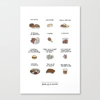 Foods of Ron Swanson Canvas Print