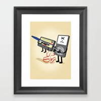 Killer Ipod Clipart (Mur… Framed Art Print