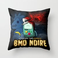 Adventure Time: BMO Noir… Throw Pillow