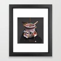 Tomato Basil Soup Framed Art Print
