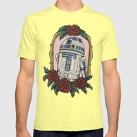 R2D2 Mens Fitted Tee Lemon SMALL