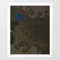 Paper Heroes - Spiderman Art Print