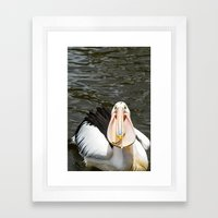 A lucky capture Framed Art Print