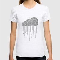 Cloud Womens Fitted Tee Ash Grey SMALL