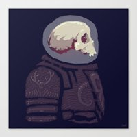 Spaceknight Skully Canvas Print