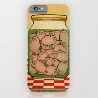 iPhone & iPod Case featuring Pickled Pig Revisited by Megs stuff...