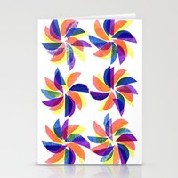 Windmill print Stationery Cards