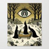 Three Shadow People Terr… Canvas Print