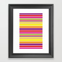 Sunshine Stripe Framed Art Print
