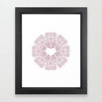 Love Lace Framed Art Print