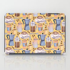 Coffee Love on Yellow iPad Case