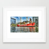 inner harbor2 Framed Art Print