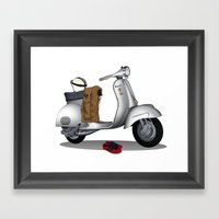 Vespa GS & Casual Stuffs Framed Art Print