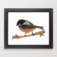 Orange bird Framed Art Print