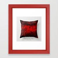 Dark Red Throw Pillow Ar… Framed Art Print
