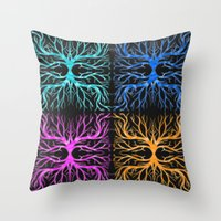 Ghostly Vines Throw Pillow
