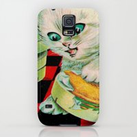 Galaxy S5 Cases featuring Kitty & French Cheese by Connie Goldman