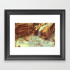 Diamantina [Waterfalls] Framed Art Print