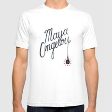 Maya White SMALL Mens Fitted Tee