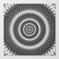 Monochrome Rings Canvas Print