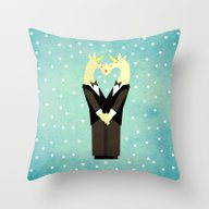 Throw Pillow featuring I Do Too by That's So Unicorny