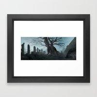 Ancient tree Framed Art Print
