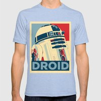 Droid Mens Fitted Tee Tri-Blue SMALL
