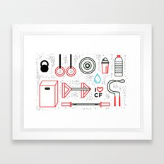 CrossFit Love Framed Art Print