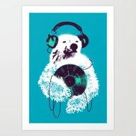 Record Bear Art Print