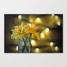 Jar of flowers Canvas Print