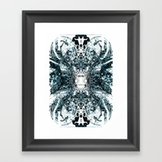 Telegraph [Digital Abstract Pen Artwork] Framed Art Print