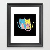 3 In 1 Cat Family Framed Art Print