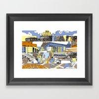 NY Stripes Framed Art Print