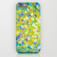 SPLASH 2 - Bright Bold Ocean Waves Beach Ripple Turquoise Aqua Lime Lemon Colorful Rainbow Wow iPhone 6 Slim Case