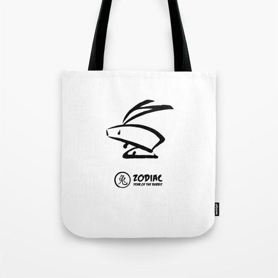 Chinese Zodiac - Year of the Rabbit Tote Bag