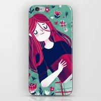 Flowe Bed iPhone & iPod Skin