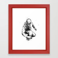 Trouble Will Find You, Always (Black/White Version) Framed Art Print