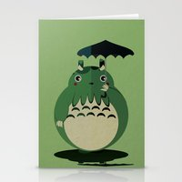 my neighbor cthulu Stationery Cards