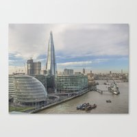 View From Tower Bridge London Canvas Print