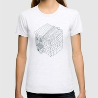 Block Womens Fitted Tee Ash Grey SMALL