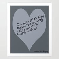 only with the heart Art Print