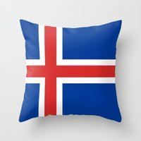National flag of Iceland - Authentic Throw Pillow