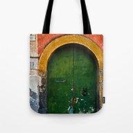 Magic Green Door In Sici… Tote Bag