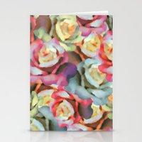 Technicolor Petal   Flor… Stationery Cards