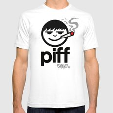 p i f f  Mens Fitted Tee White SMALL