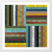 Wooden Abstract V Art Print
