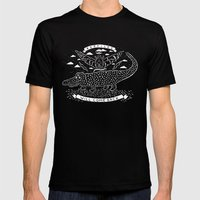 Reptiles Mens Fitted Tee Black SMALL