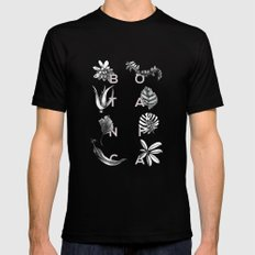 Botanica Letters | Powder Mens Fitted Tee Black SMALL