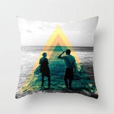 Shape of the ocean Throw Pillow
